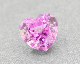 N/R Natural Pink Sapphire Heart UNHEATED  well-cut .35ct (01372)