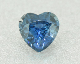 N/R Natural Blue Sapphire Heart .52ct UNHEATED well-cut (01360)