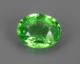 ~Dazzling! Beautiful Oval Facet Green Natural Tsavorite~
