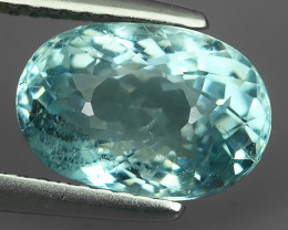 3.20 Cts Nice Quality Natural Blue Colour Aquamarine  Untreated Oval Shape