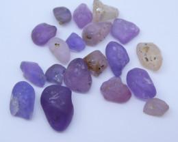 28.28 cts Rough Unheated Fancy Purple / Pink / Peach  Sapphire from Sri Lan