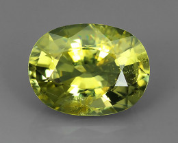 5.00 CTS  AMAZING NATURAL RARE LUSTROUS GREENISH-YELLOW TOURMALINE