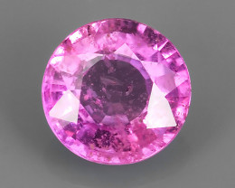 CERTIFIED~Stunning Lustrous Natural Pink Sapphire Round_Open Fire_~