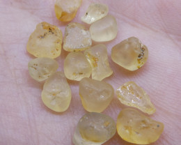 15.04 cts Rough Unheated Yellow Sapphire from Sri Lanka - $1 No Reserve Auc