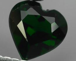 ~EXCELLENT NATURAL TOP GREEN CHROME TOURMALINE HEART~ NR!!
