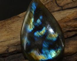 Genuine 60.00 Cts Golden & Blue Flash Labradorite Gem