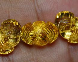 15.70 CRT GOLDEN YELLOW CITRINE-