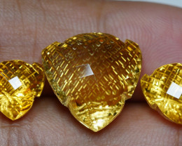 17.55 CRT GOLDEN YELLOW CITRINE-
