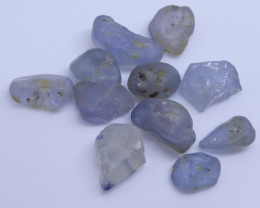 15.11 cts Rough Unheated Grey Blue Sapphire from Sri Lanka / Ceylon