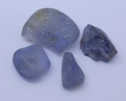 7.27 cts Rough Unheated Blue Sapphire from Sri Lanka / Ceylon