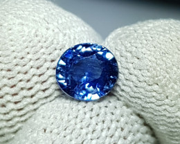 CERTIFIED 1.24 CTS NATURAL BEAUTIFUL ROUND MIX VIVID BLUE SAPPHIRE CEYLON
