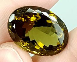 33.75Crt Olive Quartz  Best Grade Gemstones JI15