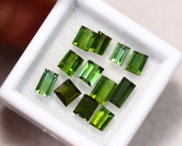 6.19cts Natural Green Colour Tourmaline Lot / R72