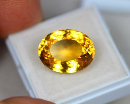 11.77Ct Yellow Citrine Oval Cut Lot LZ1999