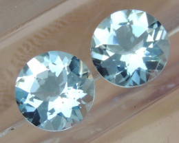 7mm Round Aquamarine