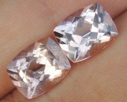 10x8mm  Morganite Peach Cushion