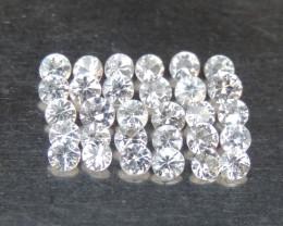 White Sapphire Calibrated Gemstones