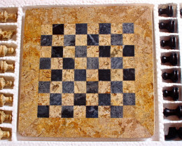 6780 CT Natural Onyx Carved Chess Board Special Shape
