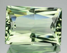 Hi End Princess cut 5.14Ct Natural Green Prasiolite Brazil