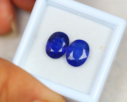 5.12ct Blue Sapphire Oval Cut 2 piece Lot GW8348