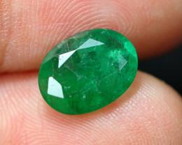 2.33cts Natural Zambian Green Emerald / TJ05