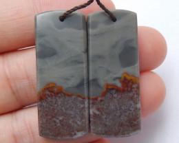 Chohua Jasper Earrings Handmade Gemstone ,Square Earrings Lucky Stone B623