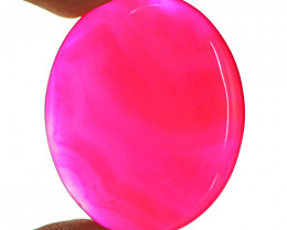 Genuine 43.50 Cts Pink Onyx Gemstone