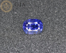 GIA Natural Blue Sapphire 1.24 Cts from Afghanistan