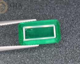 GIA Certified Natural Rare Emerald 4.38 Cts from Zimbabwe