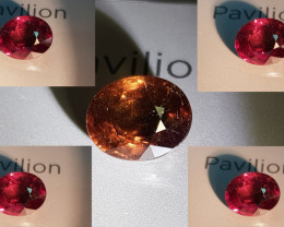 UNHEATED 4.93 CTS OVAL CUT STUNNING 100% COLOR CHANGE GARNET