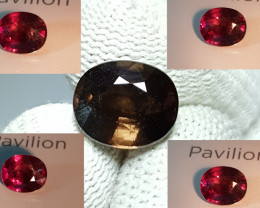 UNHEATED 4.49 CTS NATURAL STUNNING RARE 100% COLOR CHANGE GARNET