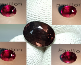 UNHEATED 4.38 CTS NATURAL STUNNING RARE 100% COLOR CHANGE GARNET