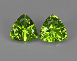 3.80 CTS~JEWEL SET!7.72MM PERIDOT WORLD SERIES BEAUTIFUL TRILLION PARCEL!!!