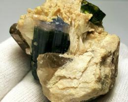 Blue cap Tourmaline specimen 490Cts - Afghanistan