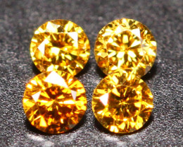 0.16Ct Untreated VS Fancy Vivid Champagne Orange Color Diamond A1202