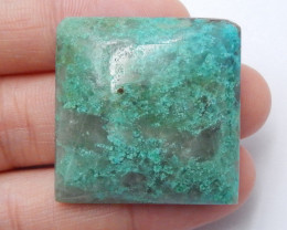Green Chrysocolla Cabochon ,Handmade Gemstone ,Square Cabochon,Birthday Sto