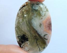 Beautiful Moss Agate Cabochon ,Handmade Gemstone ,Oval Gemstone B619