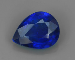 NEW OFFER 1.65 CT NATURAL PEAR CUT MADAGASCAR BLUE SAPPHIRE!!