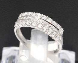 Diamond Ring 18Kt Gold F/VS Natural Diamond Ring D19