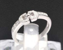 Diamond Ring 18Kt Gold F/VS Natural Diamond Ring D20