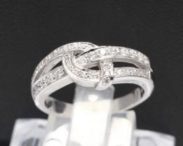 Diamond Ring 18Kt Gold F/VS Natural Diamond Ring D21