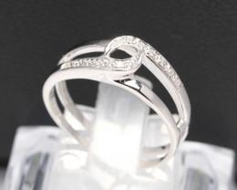 Diamond Ring 18Kt Gold F/VS Natural Diamond Ring D25