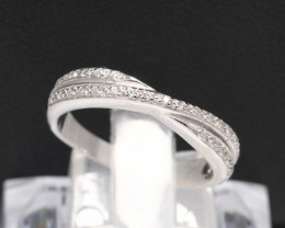 Diamond Ring 18Kt Gold F/VS Natural Diamond Ring D26
