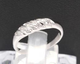 Diamond Ring 18Kt Gold F/VS Natural Diamond Ring D27