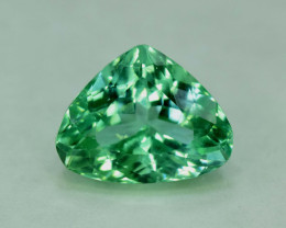NR Auction - 11.05 CTS Pear Shape Green Spodumene Gemstone From Afghanistan