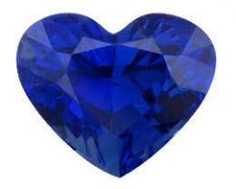 RARE 4.26 ct Heart Shape Blue Sapphire  (Royal Blue)
