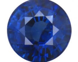 1.35 ct Round Blue Sapphire  (Rich Blue)