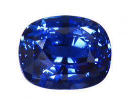 RARE 4.04 ct Cushion Cut Blue Sapphire  (Cornflower Blue)