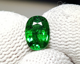 UNHEATED 1.08 CTS NATURAL BEAUTIFUL VIVID GREEN TSAVORITE GARNET KENYA