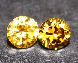0.055Ct Untreated VS Fancy Vivid Champagne Orange Color Diamond E1307